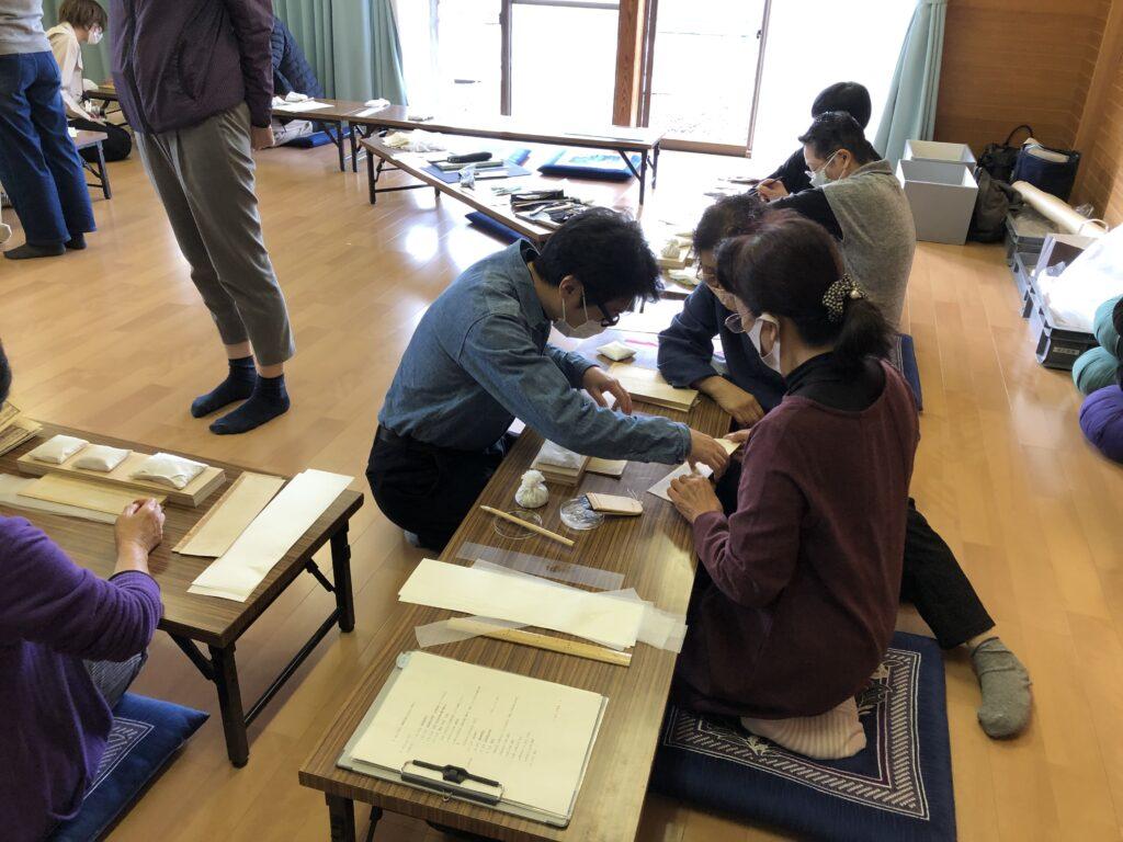 被災文化財の保存のためのワークショップ (宮城県石巻市釜谷地区)